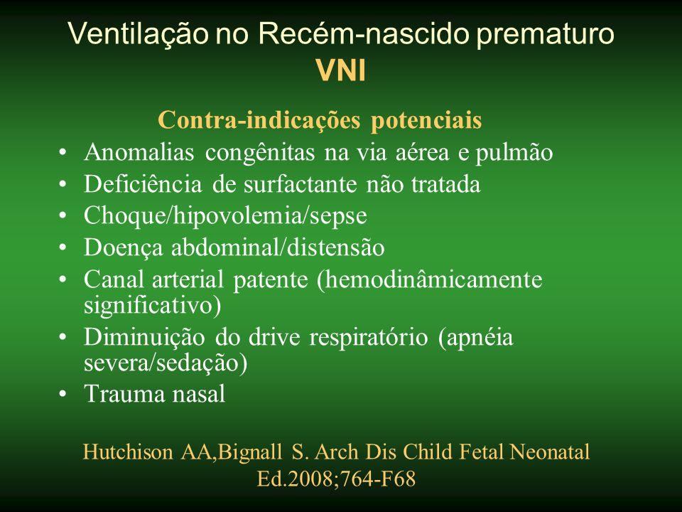 Ventilação no Recém-nascido prematuro VNI