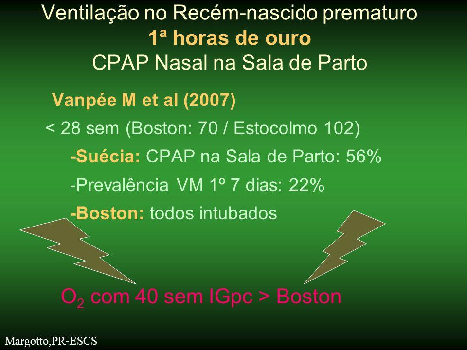 Ventilação no Recém-nascido prematuro 1ª horas de ouro CPAP Nasal na Sala de Parto