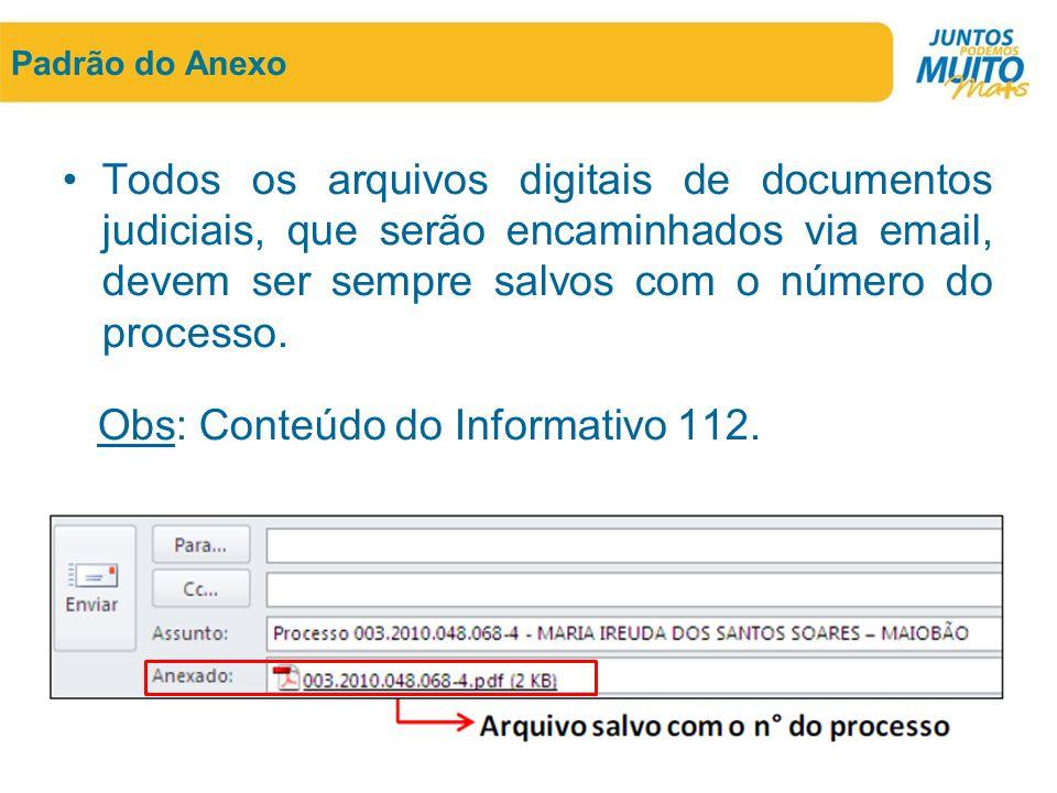 Obs: Conteúdo do Informativo 112.