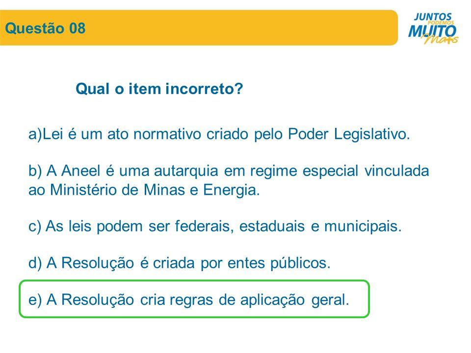 Lei é um ato normativo criado pelo Poder Legislativo.