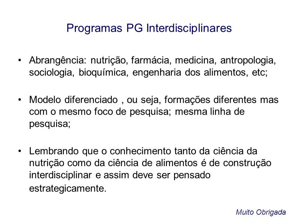 Programas PG Interdisciplinares
