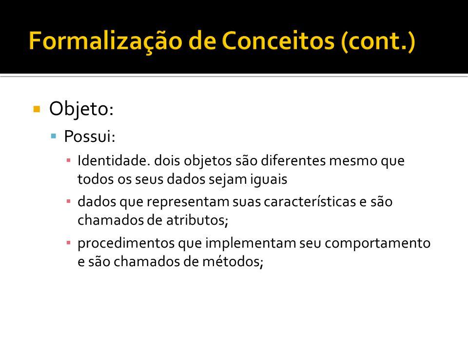 Formalização de Conceitos (cont.)