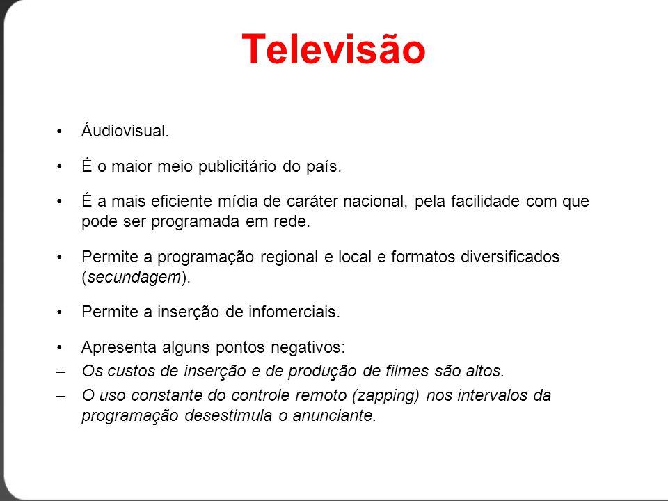 Televisão Áudiovisual. É o maior meio publicitário do país.