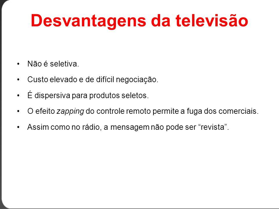Desvantagens da televisão