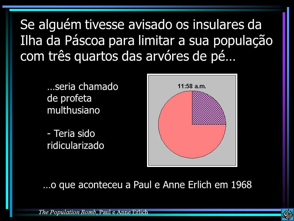 Se alguém tivesse avisado os insulares da Ilha da Páscoa para limitar a sua população com três quartos das arvóres de pé…