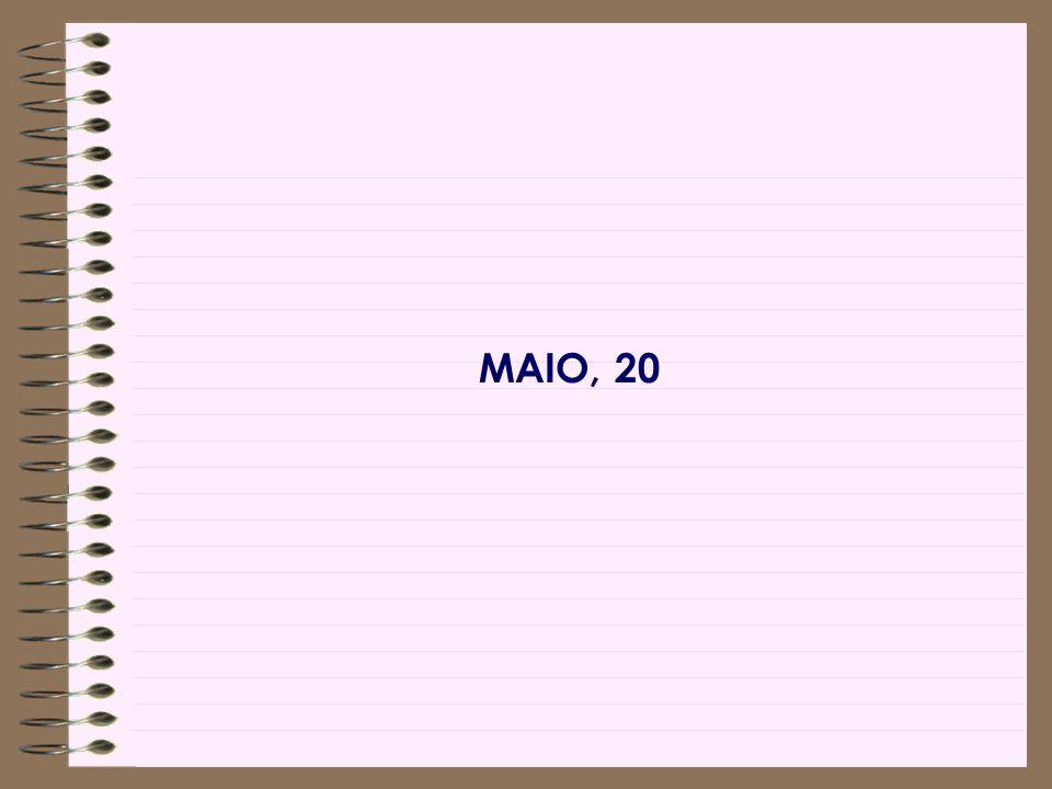 MAIO, 20