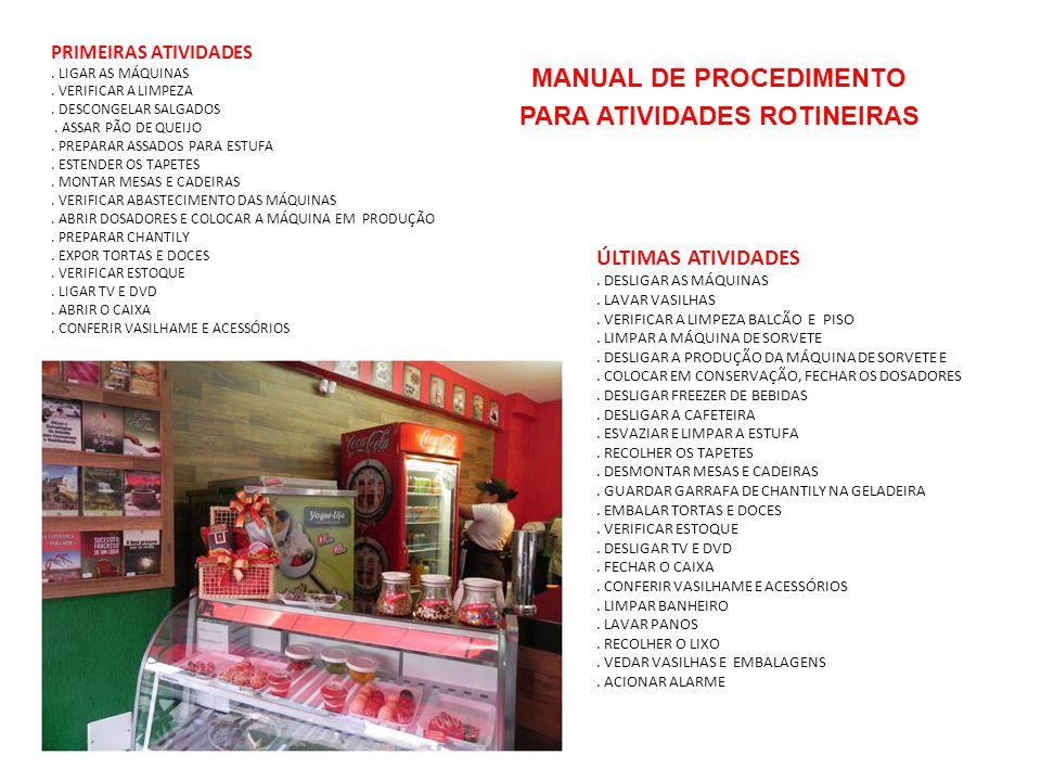 MANUAL DE PROCEDIMENTO PARA ATIVIDADES ROTINEIRAS
