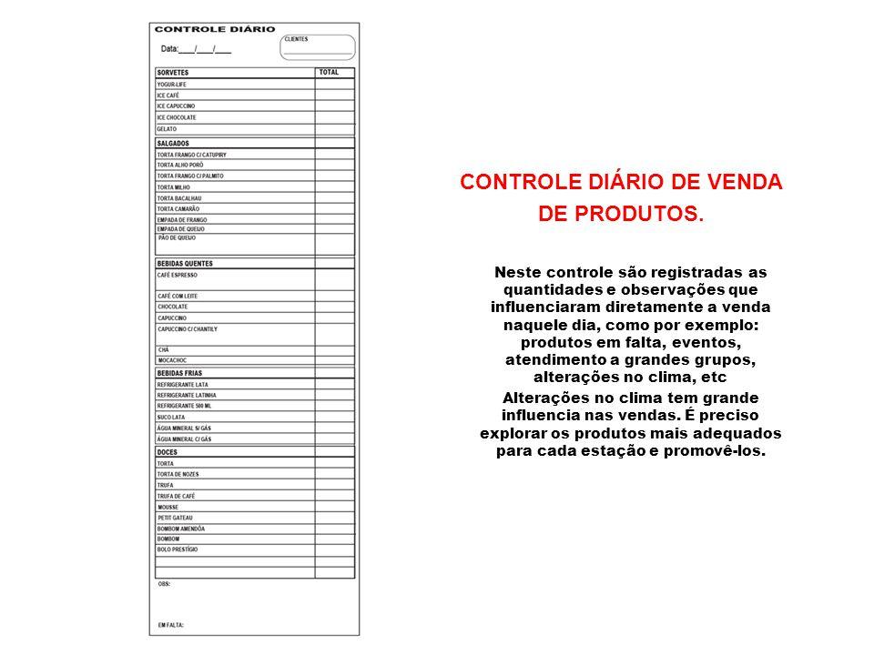 CONTROLE DIÁRIO DE VENDA