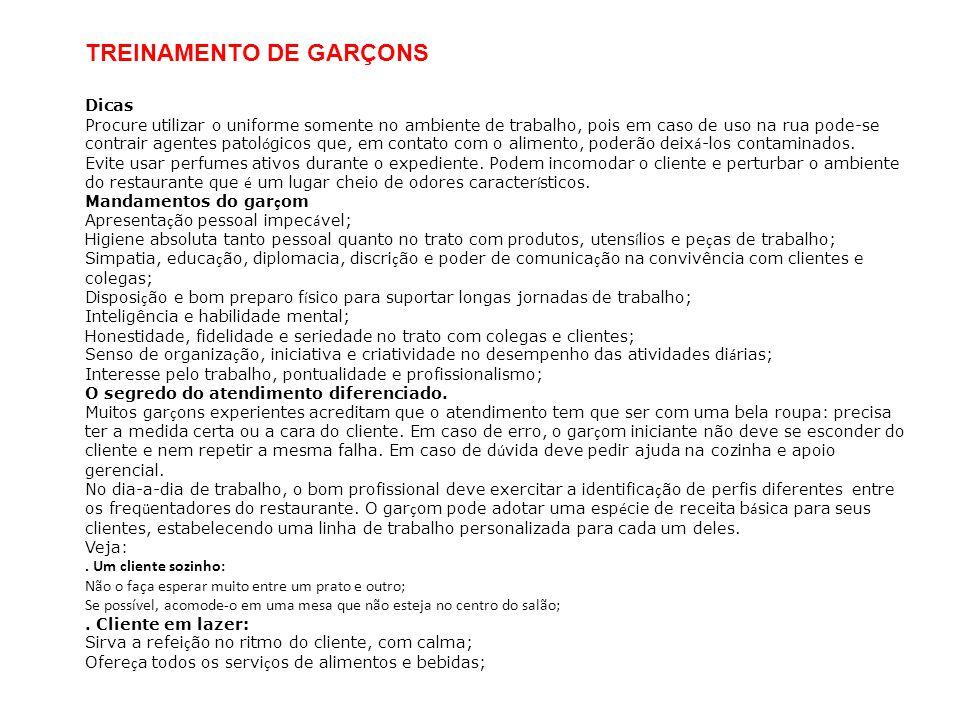 TREINAMENTO DE GARÇONS
