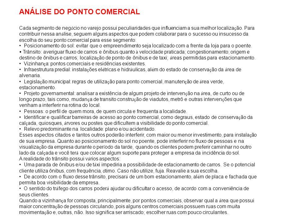 ANÁLISE DO PONTO COMERCIAL