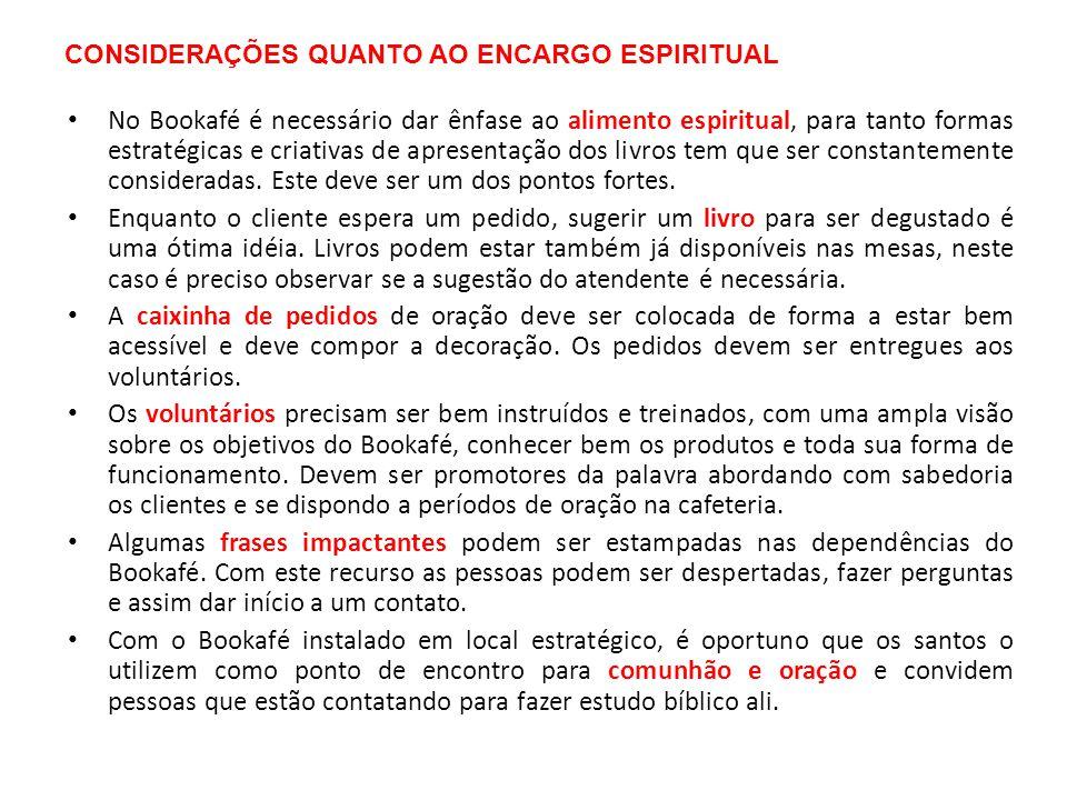 CONSIDERAÇÕES QUANTO AO ENCARGO ESPIRITUAL