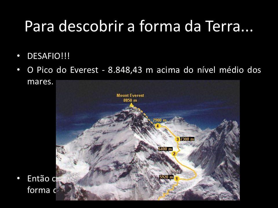 Para descobrir a forma da Terra...