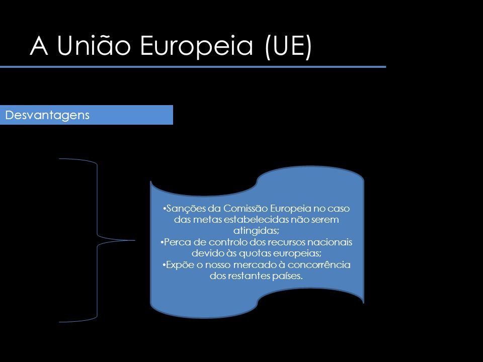A União Europeia (UE) Desvantagens