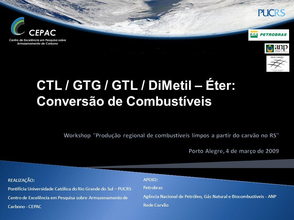 CTL / GTG / GTL / DiMetil – Éter: Conversão de Combustíveis