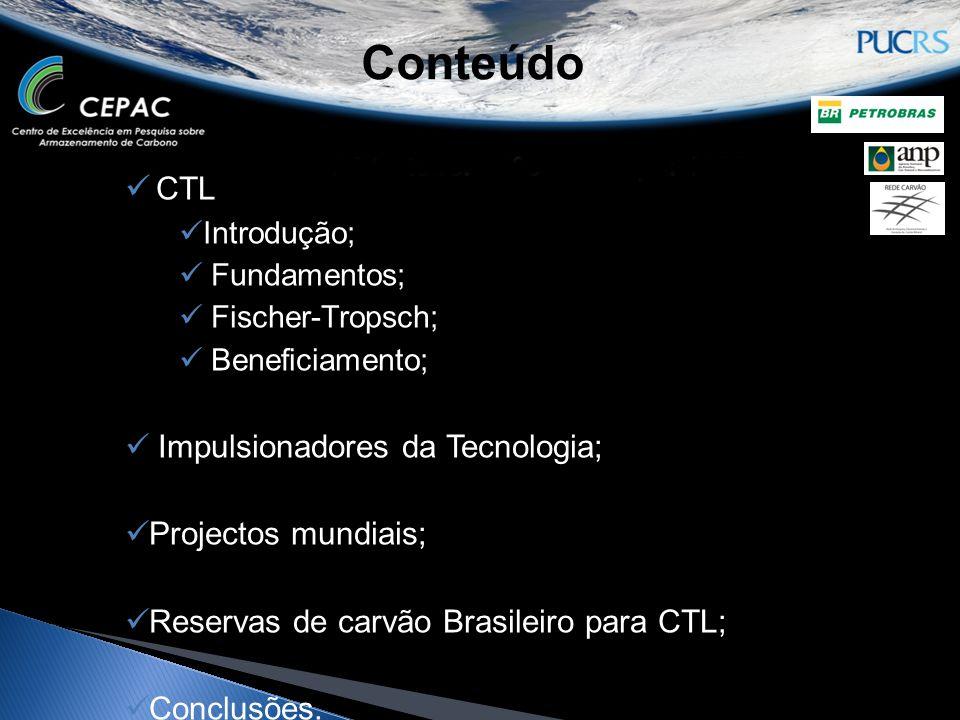Conteúdo CTL Impulsionadores da Tecnologia; Projectos mundiais;