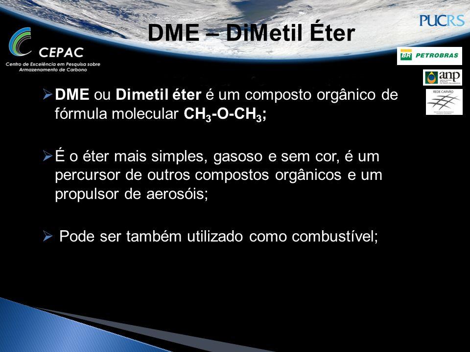 DME – DiMetil Éter DME ou Dimetil éter é um composto orgânico de fórmula molecular CH3-O-CH3;