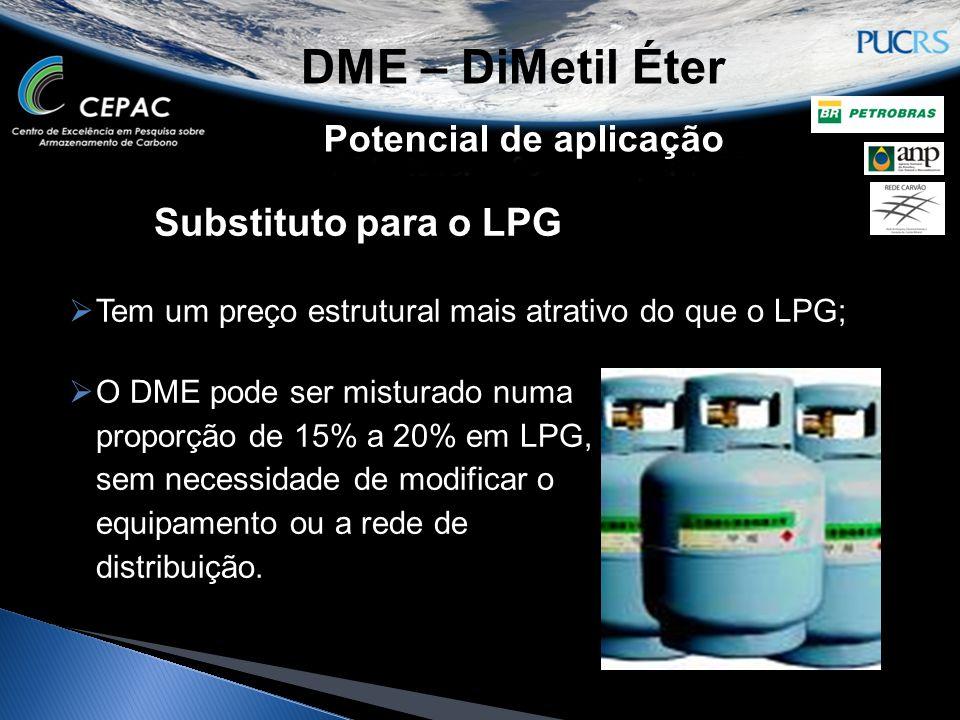 DME – DiMetil Éter Substituto para o LPG Potencial de aplicação