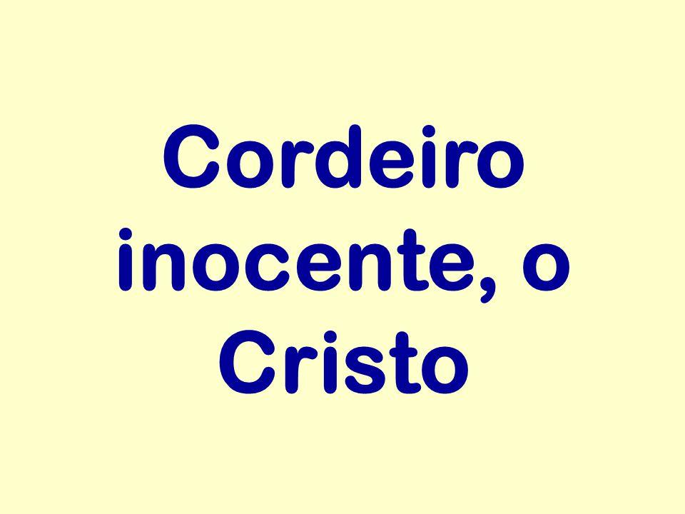 Cordeiro inocente, o Cristo