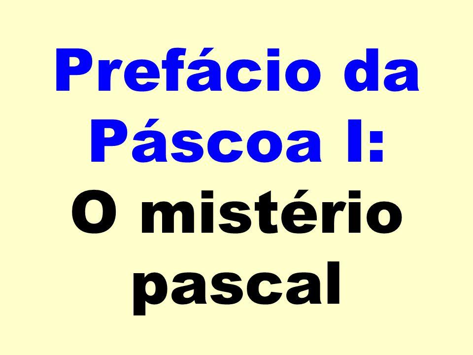 Prefácio da Páscoa I: O mistério pascal