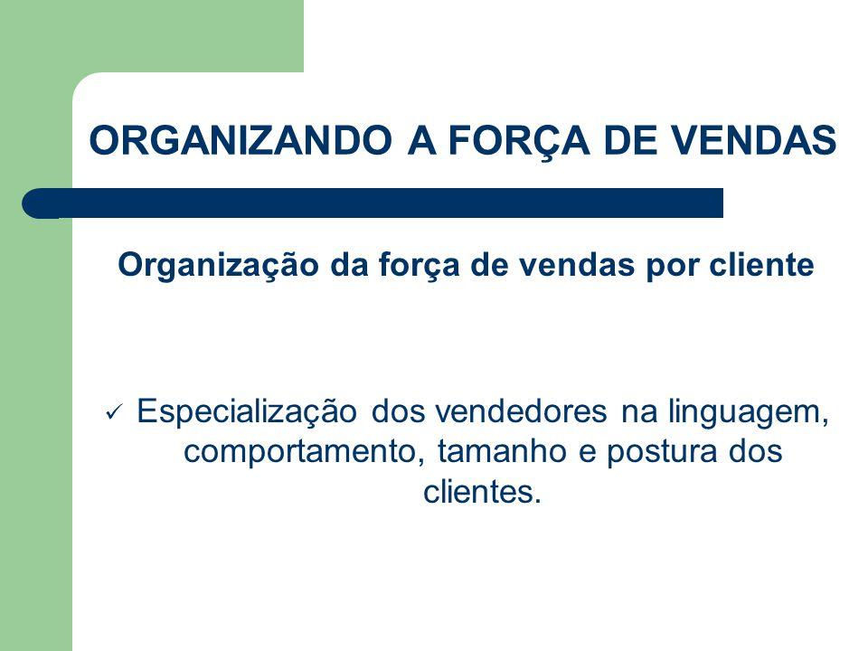 Organização da força de vendas por cliente