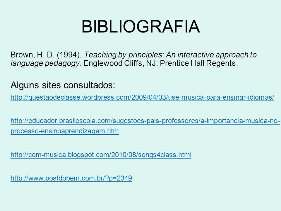BIBLIOGRAFIA Alguns sites consultados:
