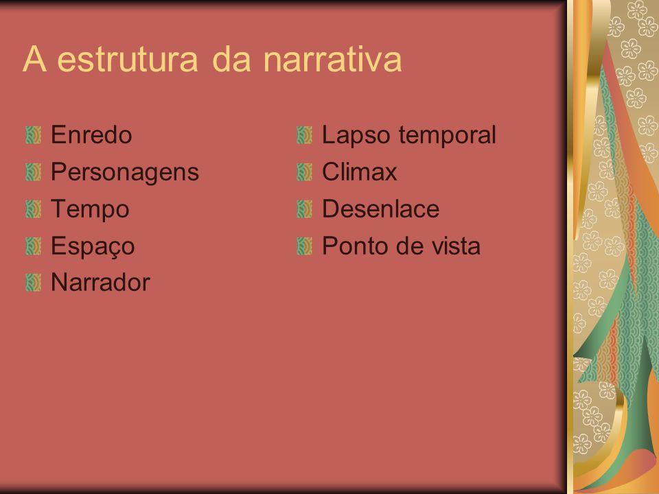 A estrutura da narrativa