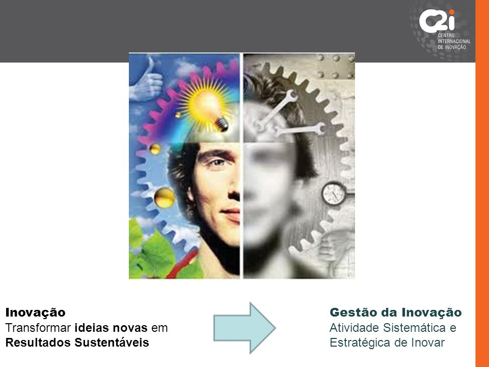 Transformar ideias novas em Resultados Sustentáveis Gestão da Inovação