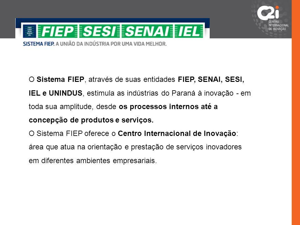 O Sistema FIEP, através de suas entidades FIEP, SENAI, SESI, IEL e UNINDUS, estimula as indústrias do Paraná à inovação - em toda sua amplitude, desde os processos internos até a concepção de produtos e serviços.