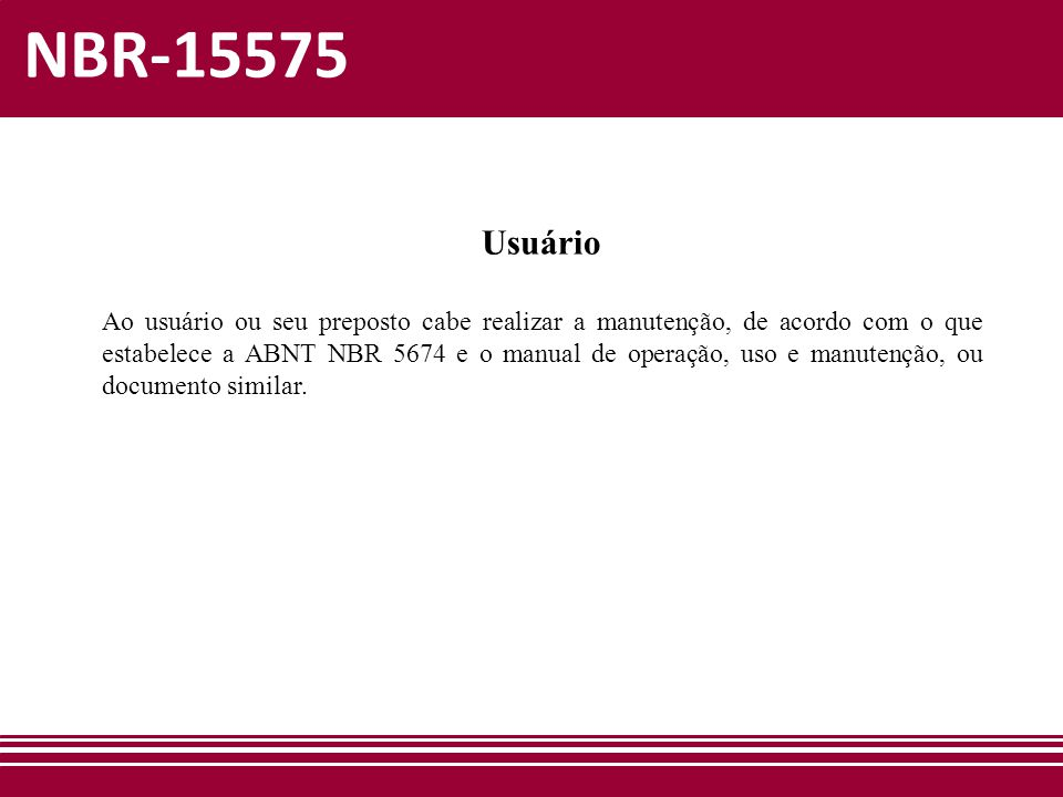 NBR-15575 Usuário.