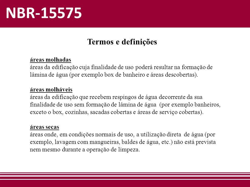 NBR-15575 Termos e definições áreas molhadas
