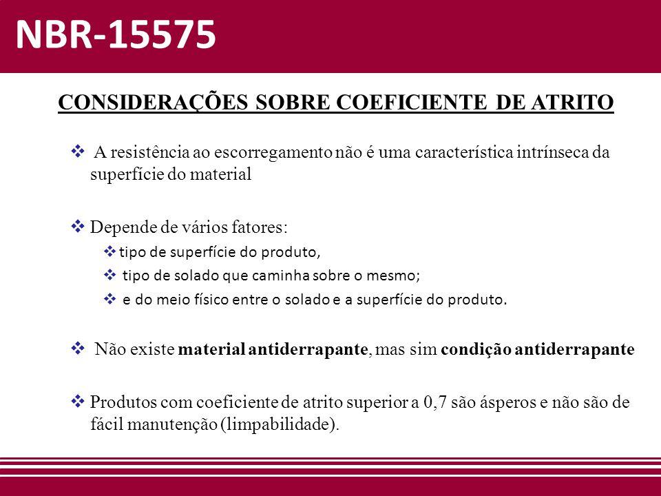 CONSIDERAÇÕES SOBRE COEFICIENTE DE ATRITO