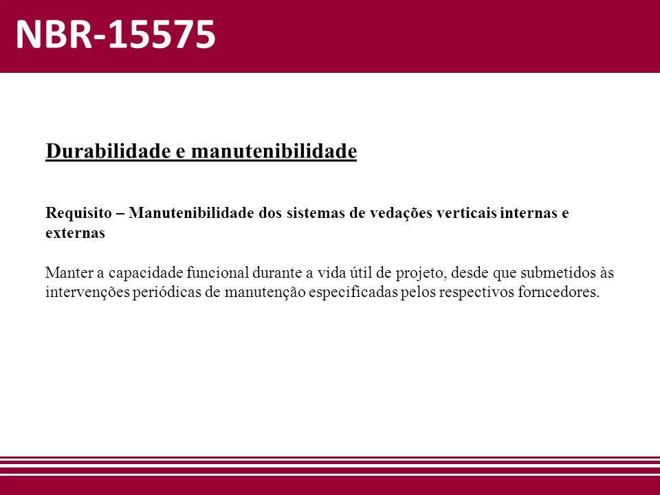 NBR-15575 Durabilidade e manutenibilidade