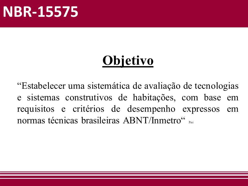 NBR-15575 Objetivo.