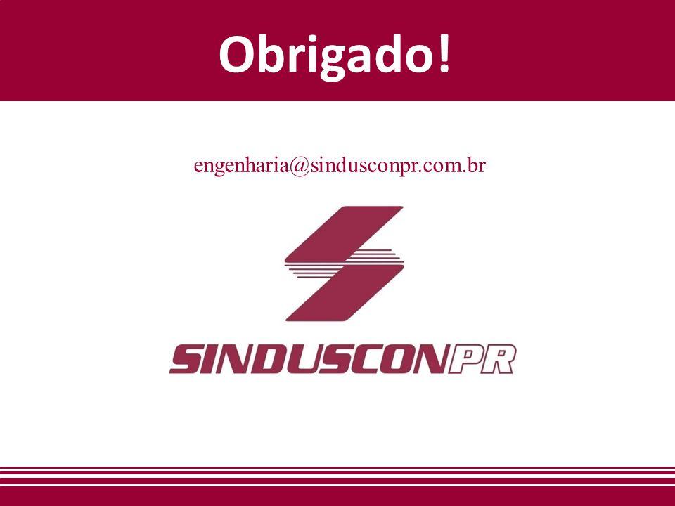 Obrigado! engenharia@sindusconpr.com.br