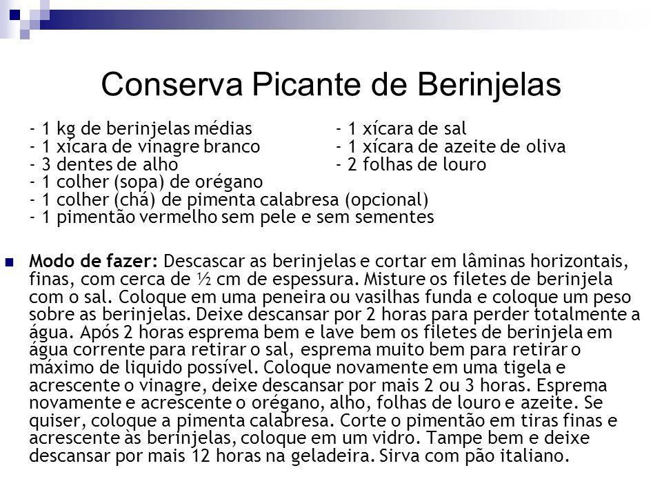 Conserva Picante de Berinjelas