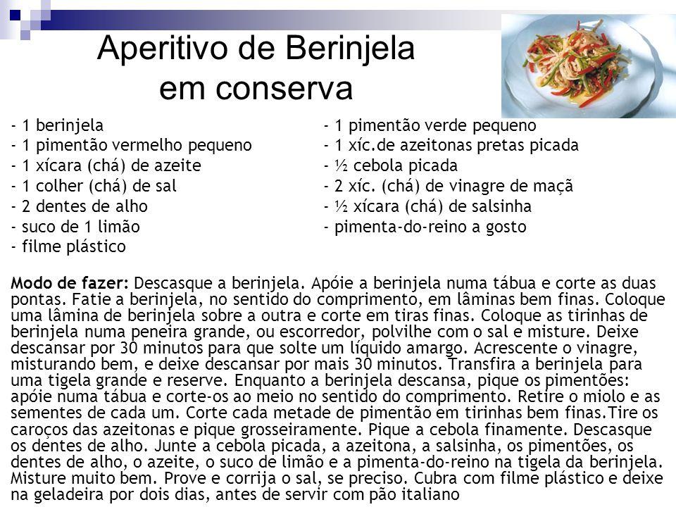 Aperitivo de Berinjela em conserva
