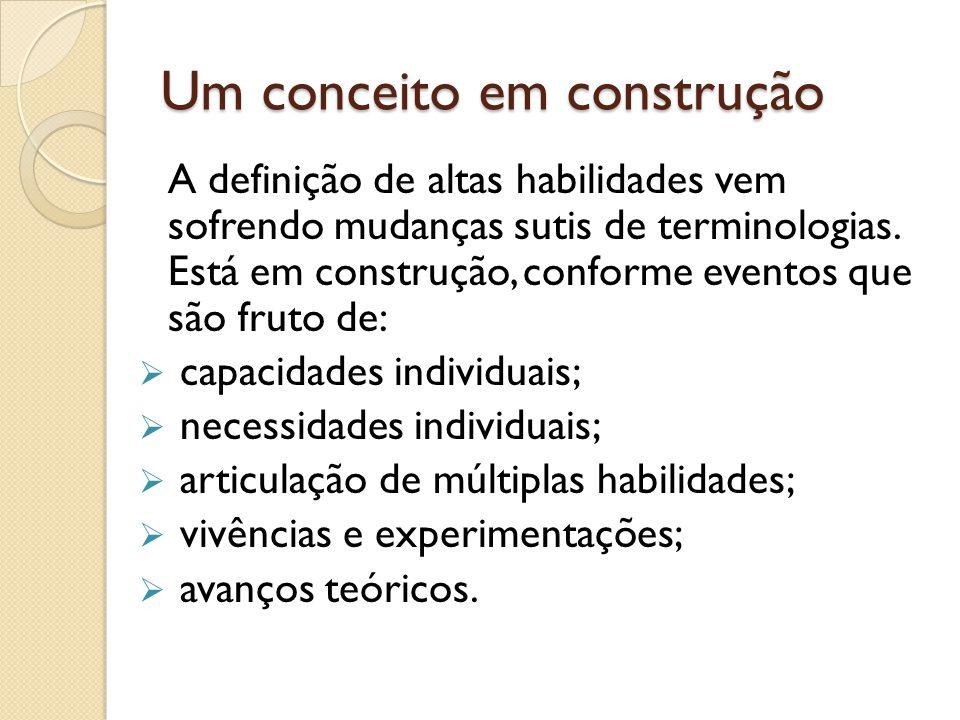 Um conceito em construção