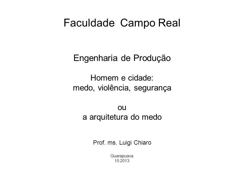 Faculdade Campo Real Engenharia de Produção Homem e cidade: