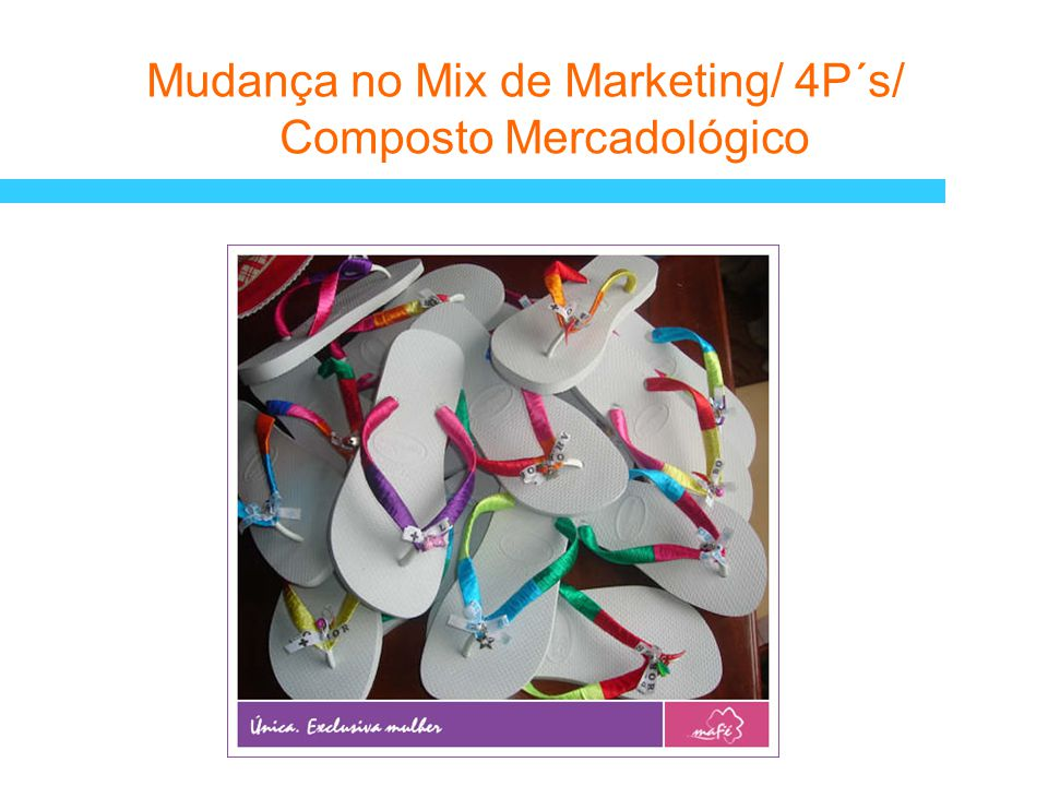 Mudança no Mix de Marketing/ 4P´s/ Composto Mercadológico