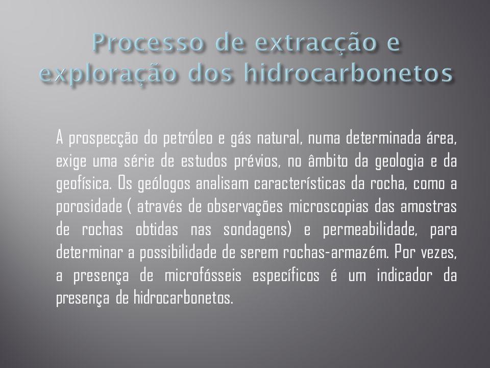 Processo de extracção e exploração dos hidrocarbonetos