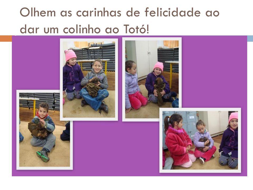 Olhem as carinhas de felicidade ao dar um colinho ao Totó!