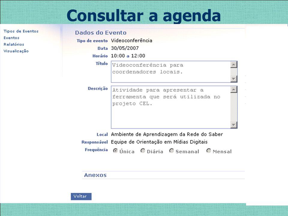 Consultar a agenda