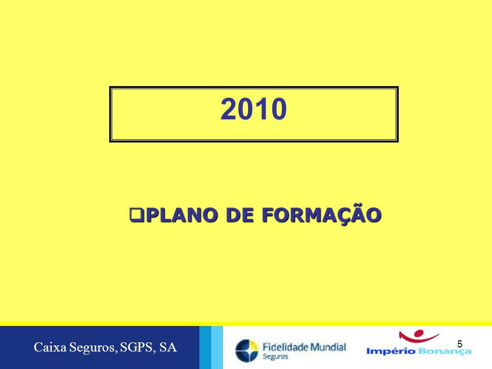 2010 PLANO DE FORMAÇÃO