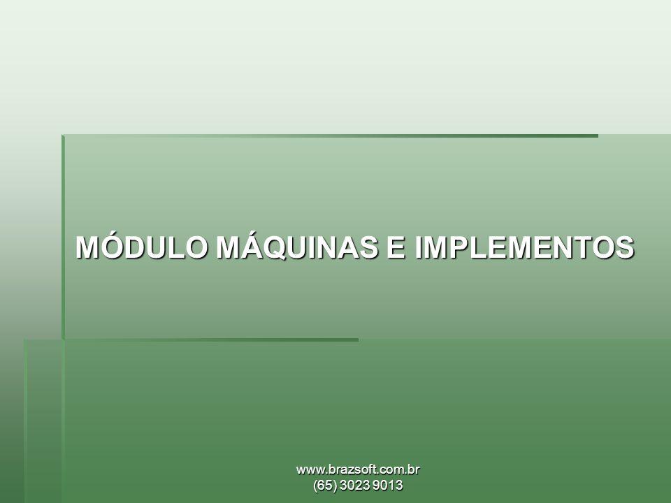 MÓDULO MÁQUINAS E IMPLEMENTOS