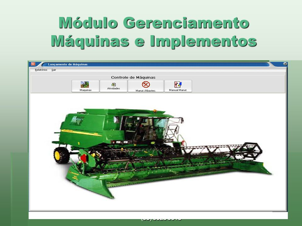 Módulo Gerenciamento Máquinas e Implementos