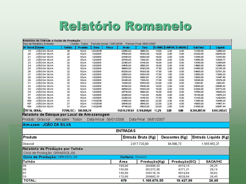Relatório Romaneio www.brazsoft.com.br (65) 3023 9013