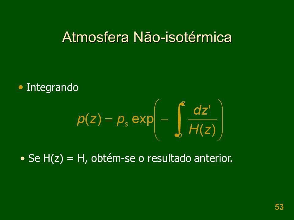 Atmosfera Não-isotérmica