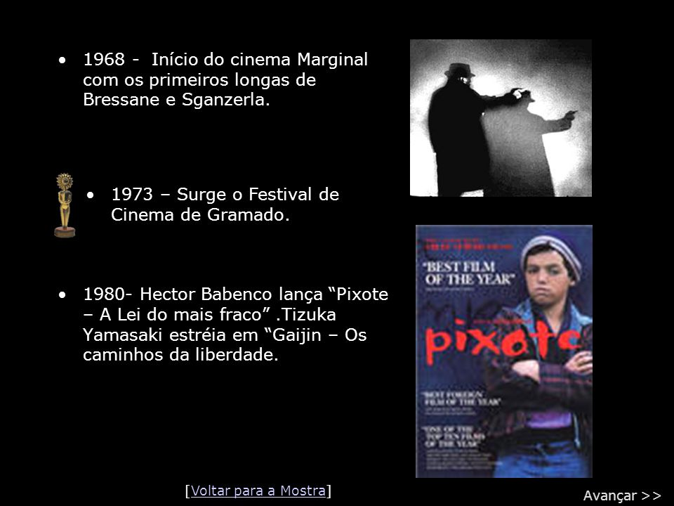 1973 – Surge o Festival de Cinema de Gramado.
