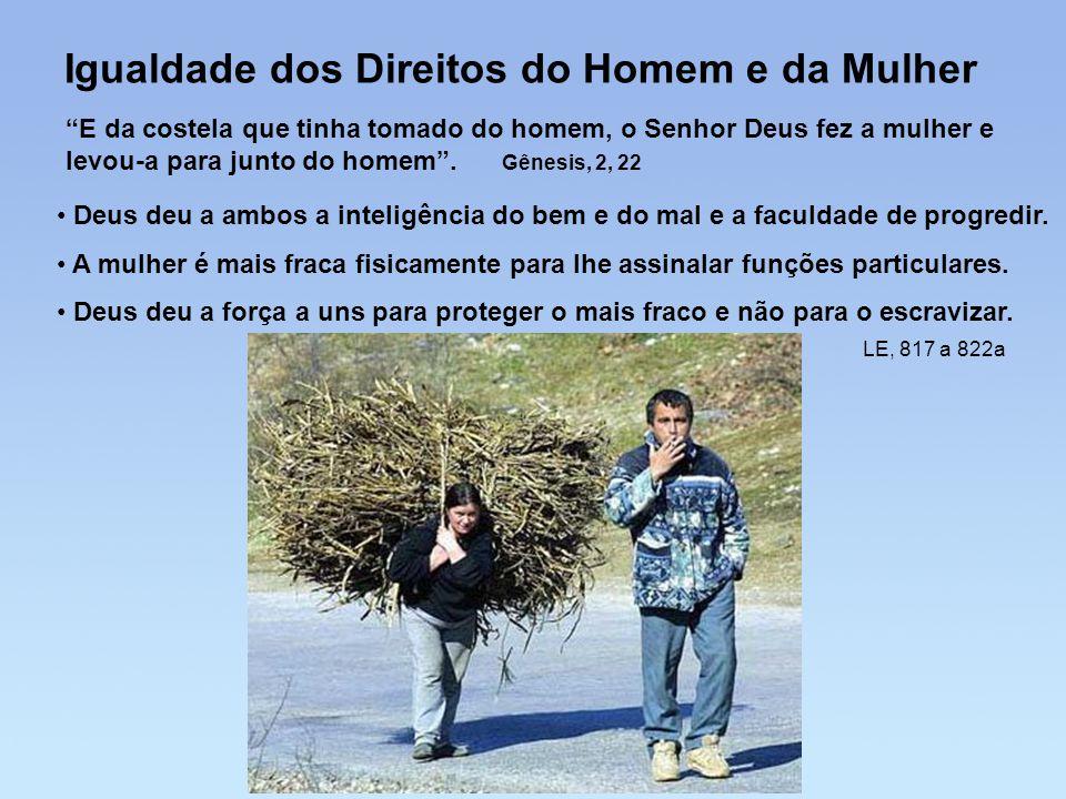 Igualdade dos Direitos do Homem e da Mulher