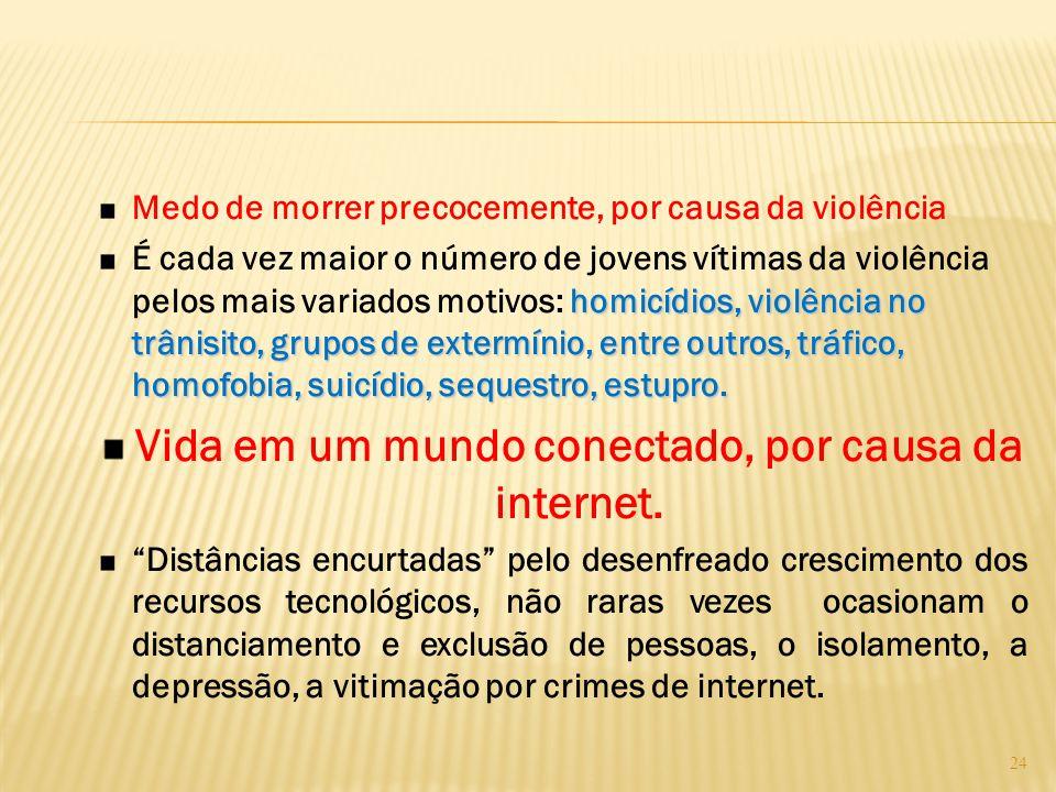 Vida em um mundo conectado, por causa da internet.